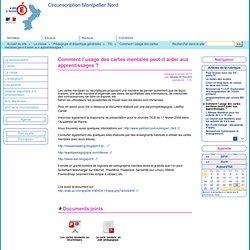 Comment l'usage des cartes mentales peut-il aider aux apprentissages ? - Circonscription Montpellier Nord