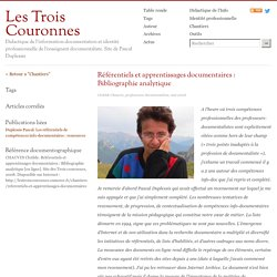 Référentiels et apprentissages documentaires : Bibliographie analytique