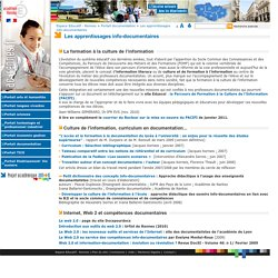 Les apprentissages info-documentaires