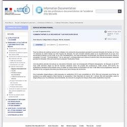 Parcours de formation et progressions documentaires - Information Documentation