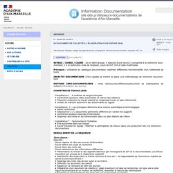 Apprentissages info-documentaires