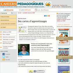 Des cartes d'apprentissages