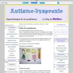 Langage - Autisme-Dyspraxie Apprentissages et vie quotidienne