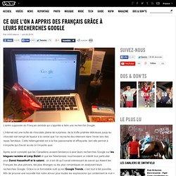 Ce que l'on a appris des Français grâce à leurs recherches Google