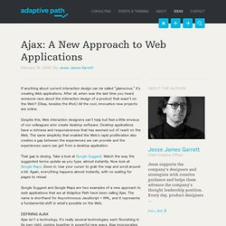 adaptive path ‽ ajax: a new approach to web applications