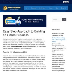 Easy Step Approach to Building an Online Business