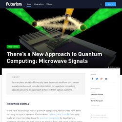 There's a New Approach to Quantum Computing: Microwave Signals
