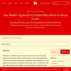 INTECH 11/03/19 One Health Approach to Control Brucellosis in Sierra Leone