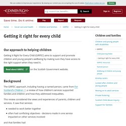 Our approach to helping children