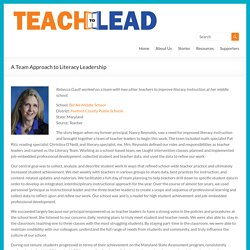 A Team Approach to Literacy Leadership - Teach to Lead