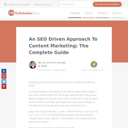 SEO on your content marketing blog