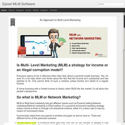 An Approach to Multi Level Marketing