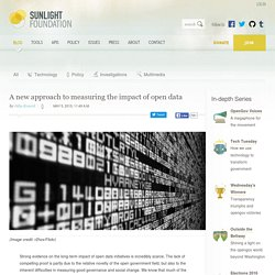 A new approach to measuring the impact of open data - Sunlight Foundation Blog