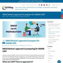 Nikhil Nerkar's approach to prepare for NMIMS CDPI - CATKing