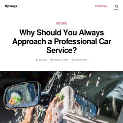 Why Should You Always Approach a Professional Car Service? - My Blogs