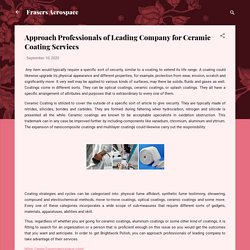 Approach Professionals of Leading Company for Ceramic Coating Services