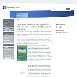 Green Water Defense - A New Approach to Water Resources and Flood Risk Management in East Asia