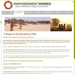 Our Approach: 7 Stages to Sustainability (7SS)