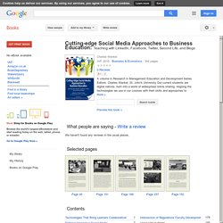 Cutting-edge Social Media Approaches to Business Education: Teaching with ...