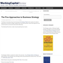 The Five Approaches to Business Strategy