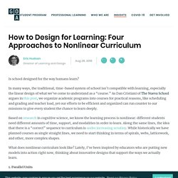 How to Design for Learning: Four Approaches to Nonlinear Curriculum
