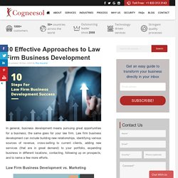 10 Effective Approaches to Law Firm Business Development