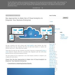 Key Approaches to Make Use of Cloud Analytics to Empower Your Business Enterprise