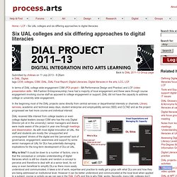 Six UAL colleges and six differing approaches to digital literacies | process.arts