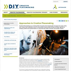 Artscape DIY - Approaches to Creative Placemaking