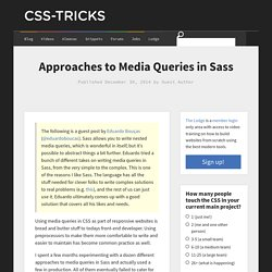 Approaches to Media Queries in Sass