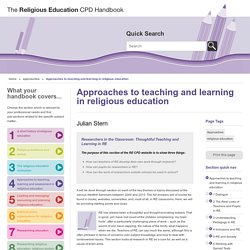 Approaches to teaching and learning in religious education