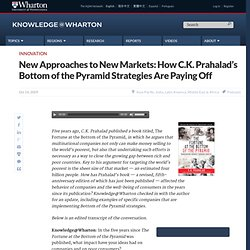 New Approaches to New Markets: How C.K. Prahalad's Bottom of the
