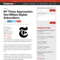 NY Times Approaches One Million Digital Subscribers