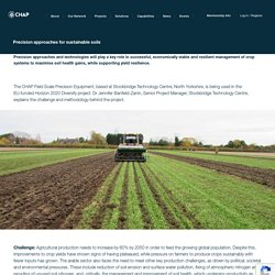 Precision approaches for sustainable soils - CHAP