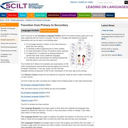 SCILT > S1-S3 > Sample approaches > Transition from Primary to Secondary