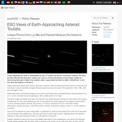 Views of Earth-Approaching Asteroid Toutatis