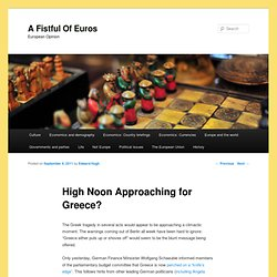 High Noon Approaching for Greece?