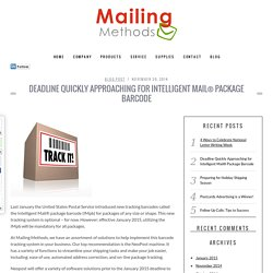 Mailing Machines for intelligent Mail Package Barcode