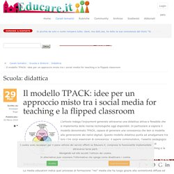 Educare.it - Il modello TPACK: idee per un approccio misto tra i social media for teaching e la flipped classroom