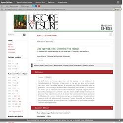 PELISSIER J.P., REBAUDO D. - Une approche de l'illettrisme en France - Histoire & Mesure