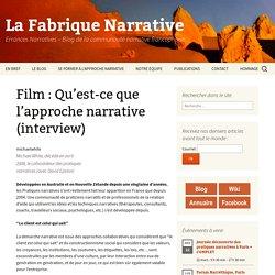 Film : Qu'est-ce que l'approche narrative (interview) « Errances Narratives, le blog de la Fabrique Narrative