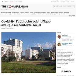Covid-19: l'approche scientifique aveugle aucontexte social