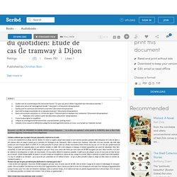 Approche des territoires du quotidien: Étude de cas (le tramway à Dijon