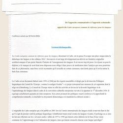 del'approchecommunicativeàl'approcheactionnelle: - seminairebogota2006
