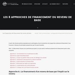 Les 8 approches de financement d'un revenu universel de base