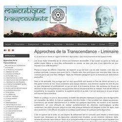 Approches de la Transcendance