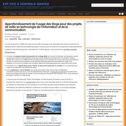 Approfondissement de l'usage des blogs pour des projets de veille en technologie de l'information et de la communication