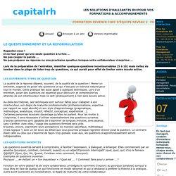 Le questionnement - questions ouvertes, fermées, d'approfondissement et inductives - capitalrh