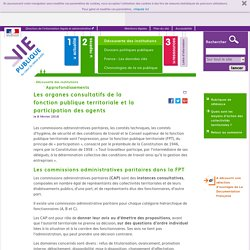 Les organes consultatifs de la fonction publique territoriale et la participation des agents