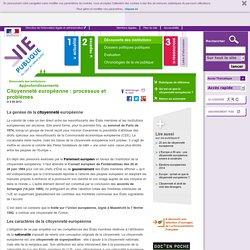 Citoyenneté européenne : processus et problèmes